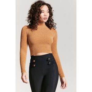 Forever 21 chenille cropped sweater